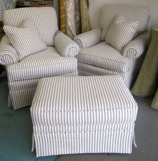 Best Four Seasons Blue And White Ticking Chair Club 640 x 480