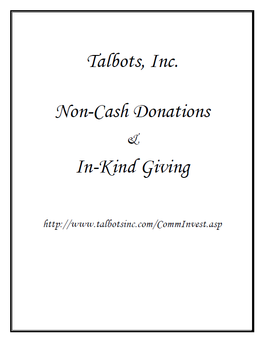 Request For Contribution Or InKind Donation  Templates  Ofal