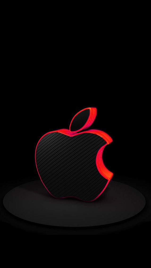 Red Carbon Fiber Apple Apple iPhone 5s hd wallpapers