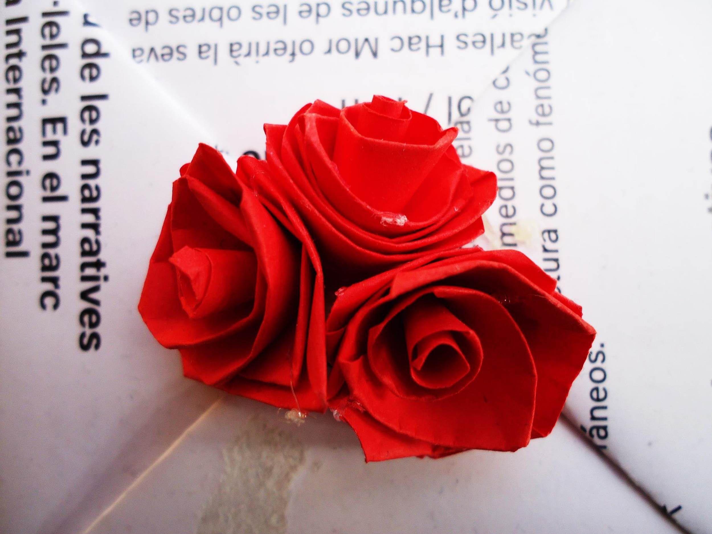 paso a paso para hacer rosas miniatura hechas con la tecnica de quilling o papel filigrana - Hacer Rosas De Papel