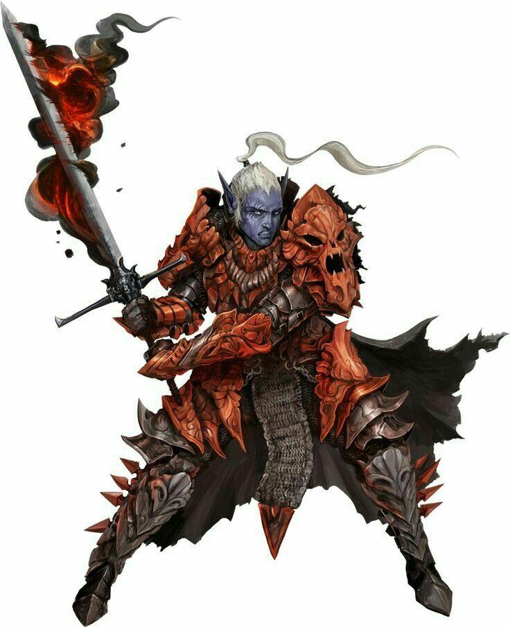 Dark Elf Fighter Warrior - Pathfinder PFRPG DND D&D d20 fantasy