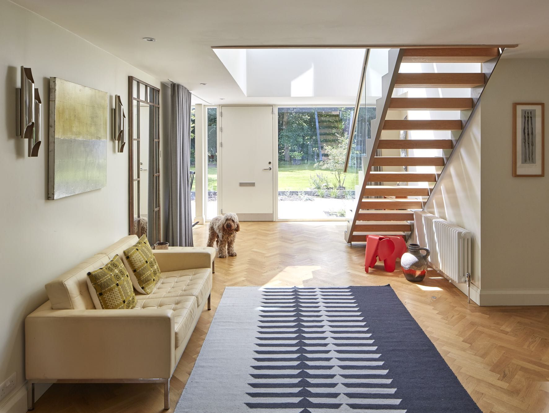 1960S House Renovation By Absolute Architecture, Open Hallway With Contemporary