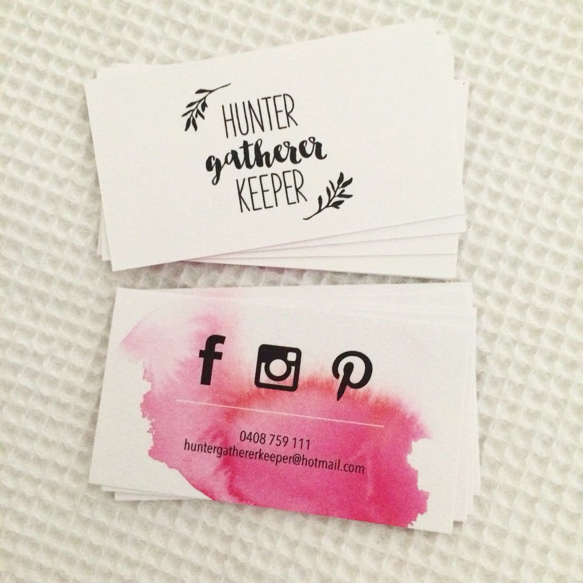 beautiful business cards createdthe very talented kate