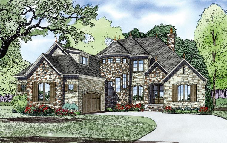 French Country Style House Plan Number 82165 With 4 Bed 4 Bath 2 Car Garage Kitchen Remodel Ideas In 2019 House Plans Family House Plans European House