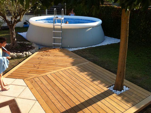 Am nagement autour de la piscine 640 478 jardin - Amenagement exterieur piscine hors sol ...