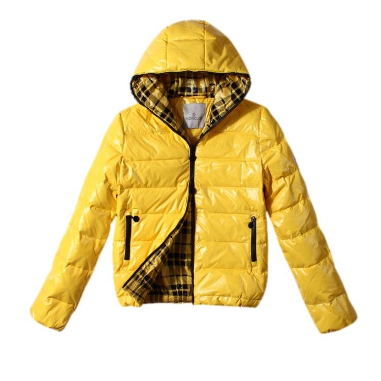 Moncler Lightweight Down Jacket Women Shiny Yellow [2900446] - £164.09 :