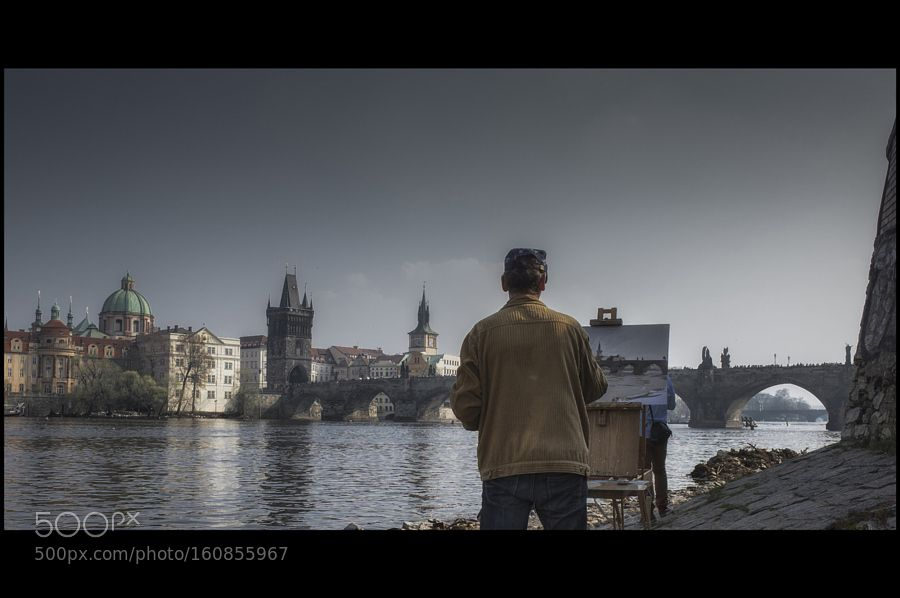painter Prague by amatverny