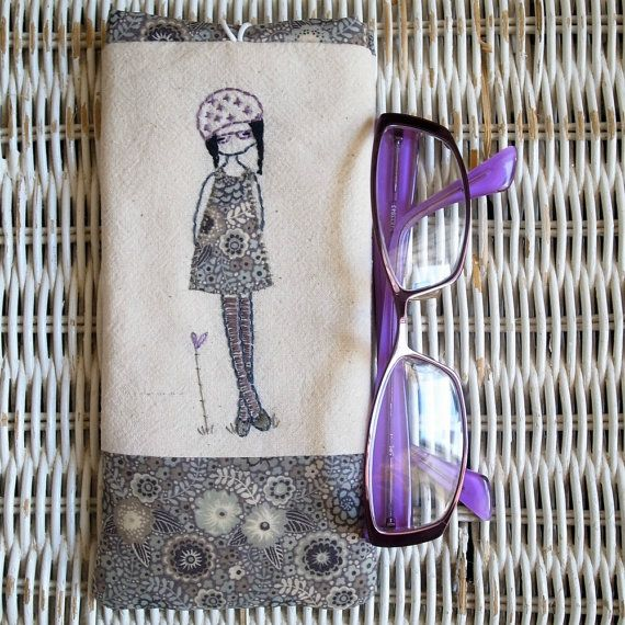 beatnik glasses case por LiliPopo en Etsy