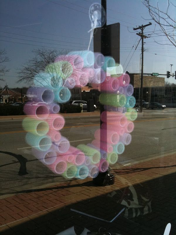 Cute Wreath Made From Old Velcro Hair Rollers In Beauty