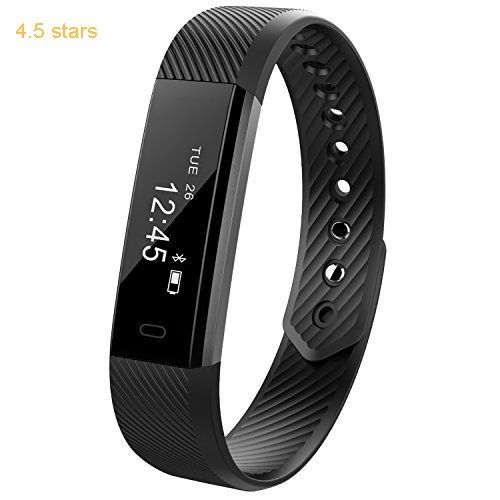 Delvfire Fitness Tracker Watch With Sleep Monitor Activity Step And Calorie Counter Bluetooth Sports Pedometer