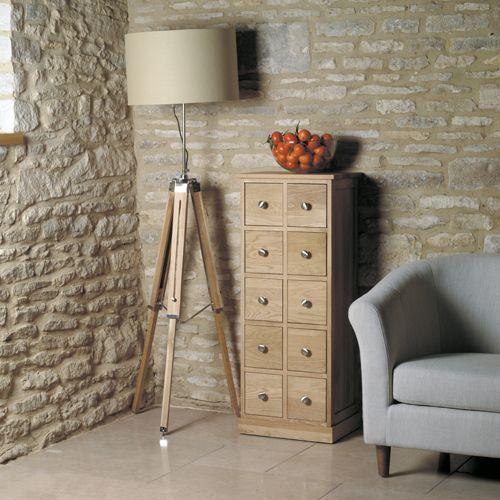 Mobel Oak Multi Drawer DVD CD Storage Chest #wood #oak #furniture #