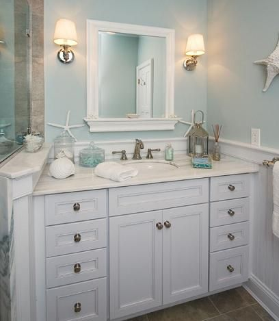 Seaside Bathroom Vanities Even Simple Seashells Can Help Incorporate That Beachy Vibe By Robert