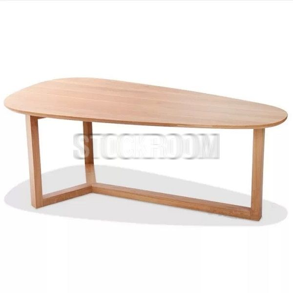 Hopper Solid Oak Wood Raindrop Coffee Table - HKD 4490 - http://www.stockroom.com.hk/hopper-solid-oak-wood-raindrop-coffee-table-p-854.html