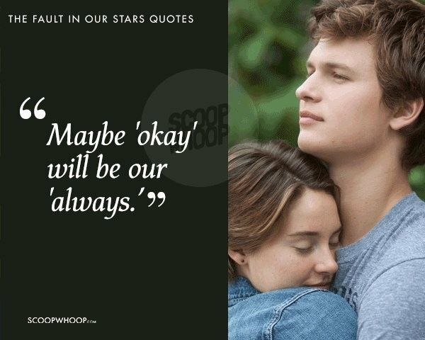 'okay'   The fault in our stars quotes, The fault in our ...