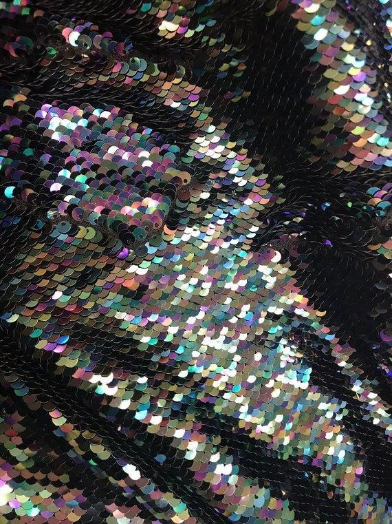 Sequin Fabric by The Yard Sequince Material Sparkly Fabric 1016S 1 Yard, Baby Blue