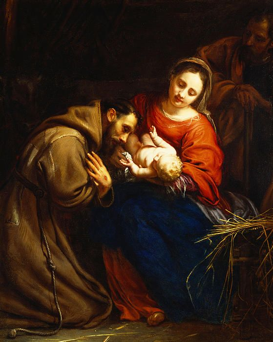 Jacob van Oost (1601-1671): The Holy Family with Saint Francis