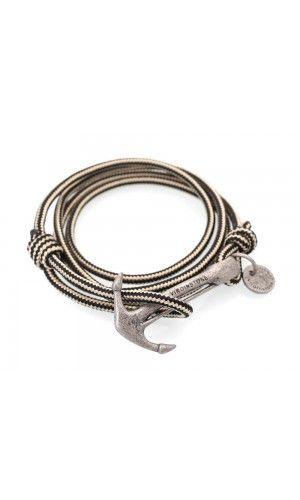 87c23d1f567e72 Fossil Anchor Bracelets Pharaoh Black | Nautical bracelets | Hook ...