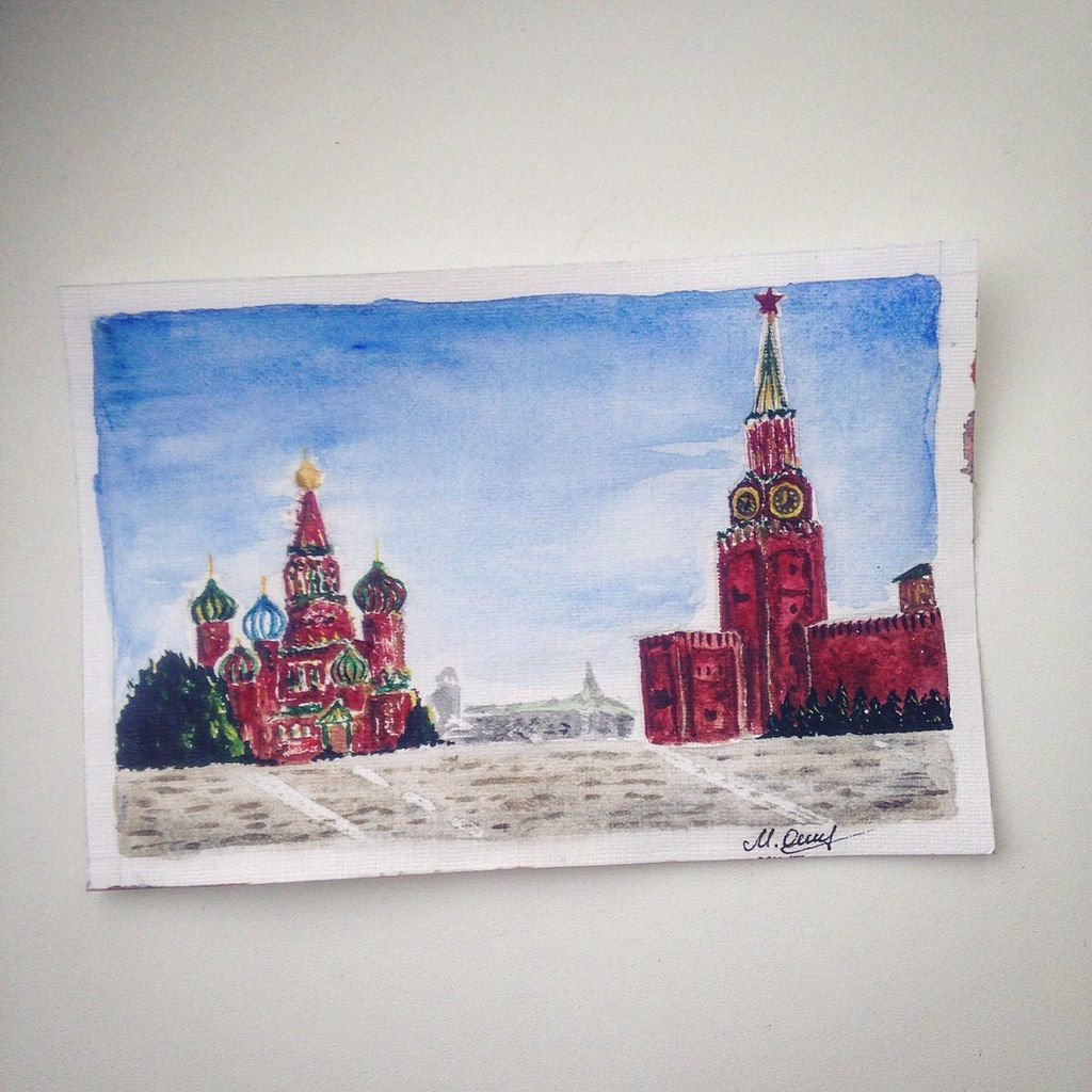 #MOSCOW #watercolor