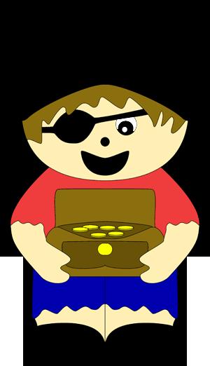 Der kleine pirat der seine schatzkiste tr gt ist sehr einfach zu basteln leidglich ein paar - Schatzkiste basteln vorlage ...