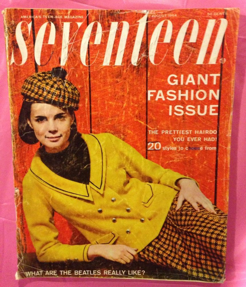 Мagazine Fashion 17 Only Sweet Girls: August 1964 Cover With Florence Julien