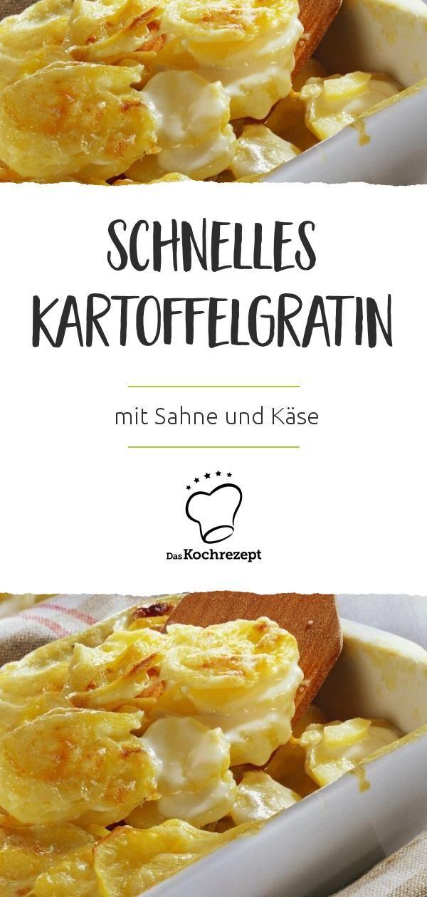 Schnelles Kartoffelgratin mit Sahne und Käse #vegetarischerezepteschnell