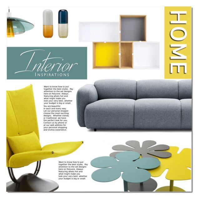 """""""Untitled #992"""" by valentina1 ❤ liked on Polyvore featuring interior, interiors, interior design, home, home decor, interior decorating, Ligne Roset, Normann Copenhagen, JDS Architects and Venini"""