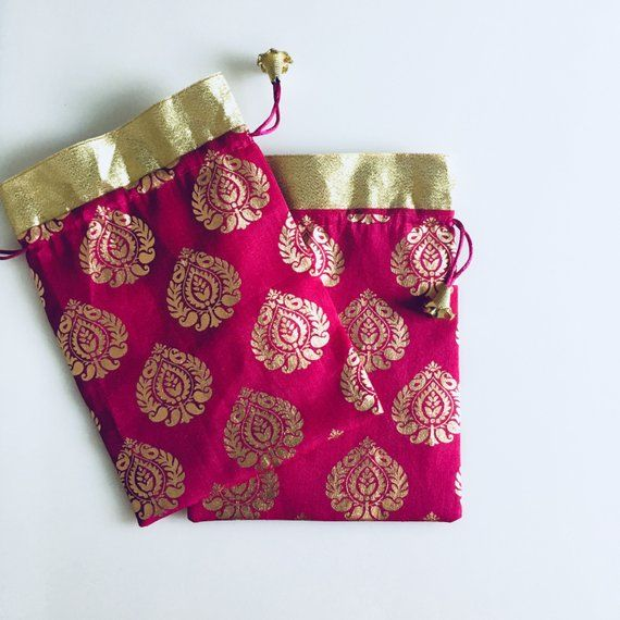 10 Indian Wedding Favor Bag - Potli bag - Bollywood Wedding Gift ... aad5339dde50e