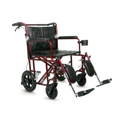 Medline Bariatric Transport Chair 22 Wide Seat Permanent FullLength Arms Elevating Legrests Red Frame ** View the item in details by clicking the image http://www.amazon.com/gp/product/B0026SZEDC/?tag=buyamazon04b-20&pep=260217014038