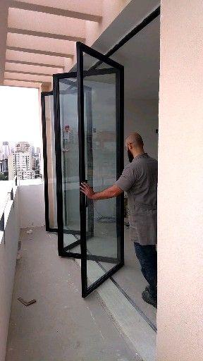 H2R Serralheria – Porta camarão de ferro e vidro para arquit…