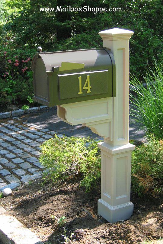 Mayne Dover Vinyl PVC Mailbox Post