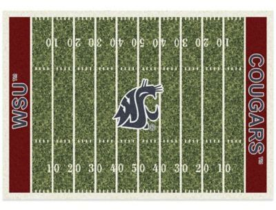 Ncaa Washington State University 7 Foot 8 Inch X 10 9 Large Home Field Rug Fields And Products