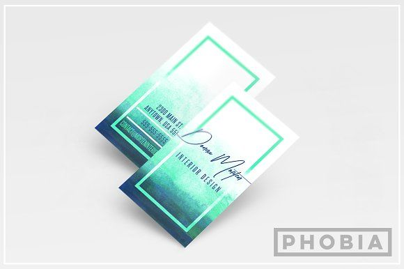 Watercolor business card template pinterest watercolor business watercolor business card template templates veritcal layouts in a psd file what do you get vertical business card layout and link by phobia colourmoves