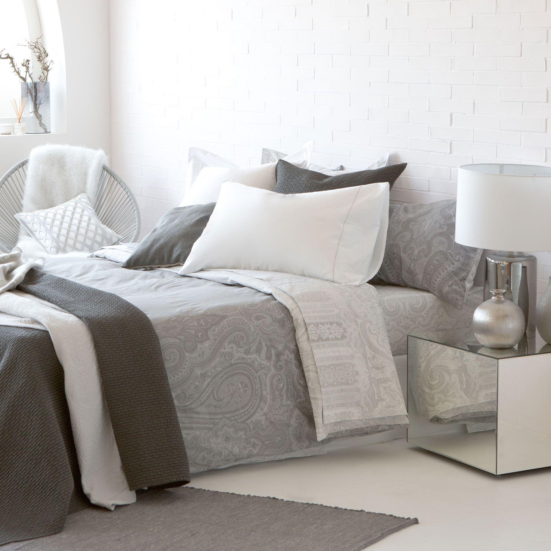 Grey Paisley Bed Linen - Bed Linen - Bedroom