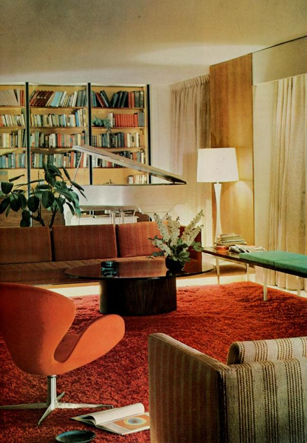 Pin by Sarah on House stuff | Mid century living room decor