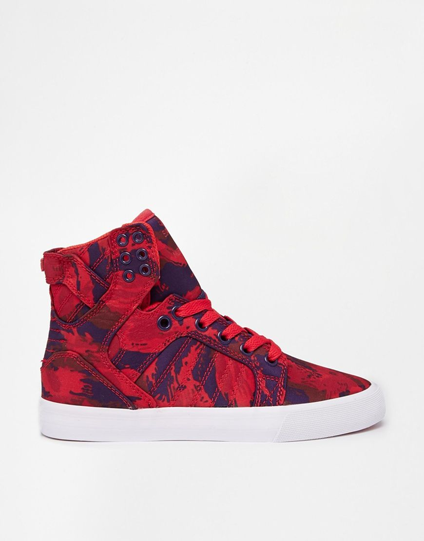817decbfcbc3 Supra Skytop Red Camo High Top Trainers