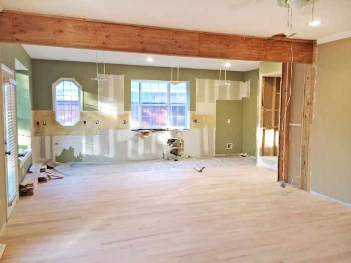 Unexpected home remodel modernizes kitchen load bearing for Can a load bearing wall be removed