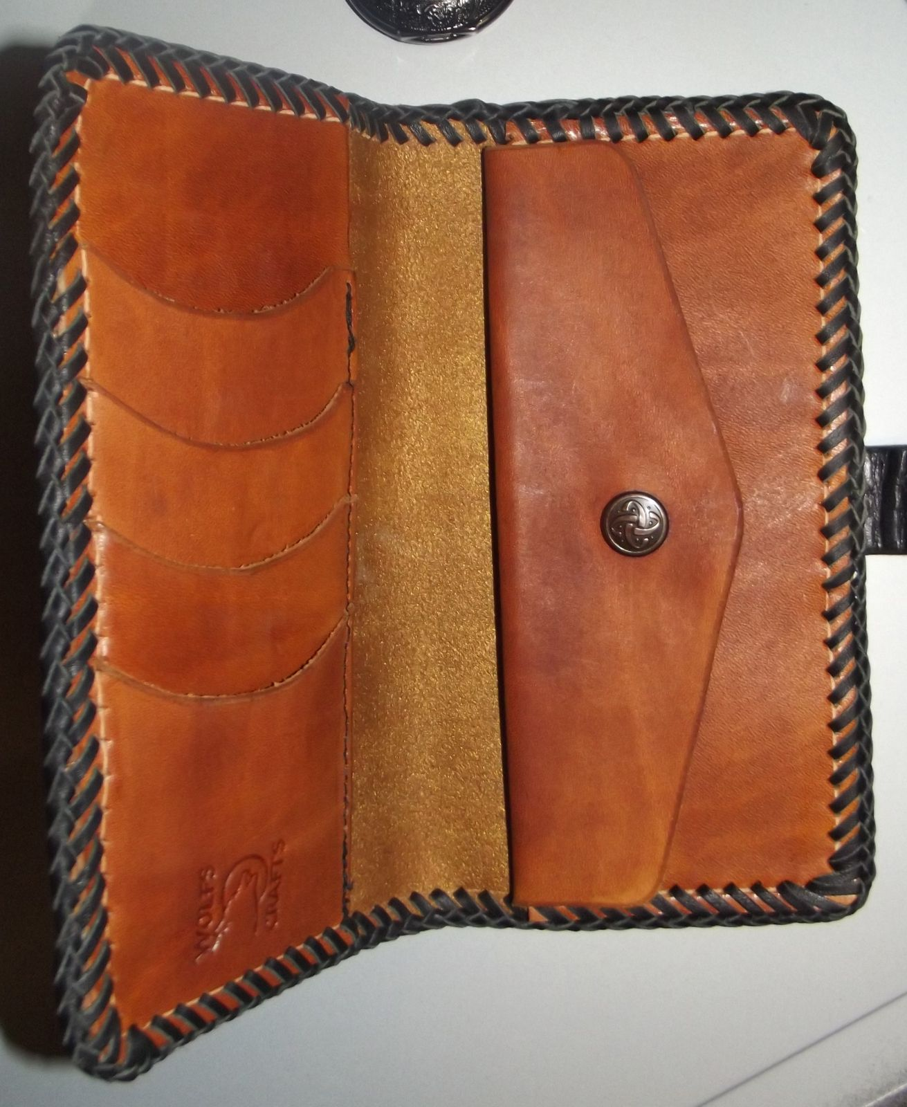 Bikers wallet or ladies purse wallets for women leather