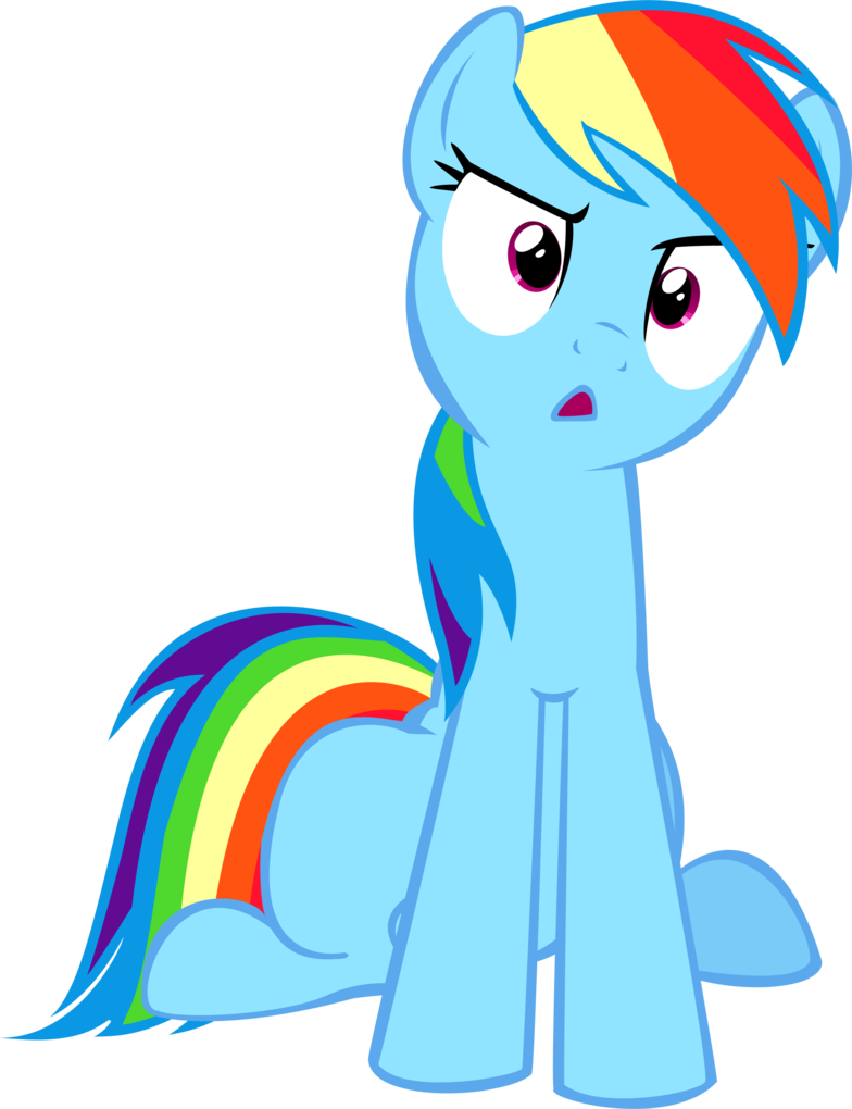 Rainbow Dash Distraught With Images Rainbow Dash My Little