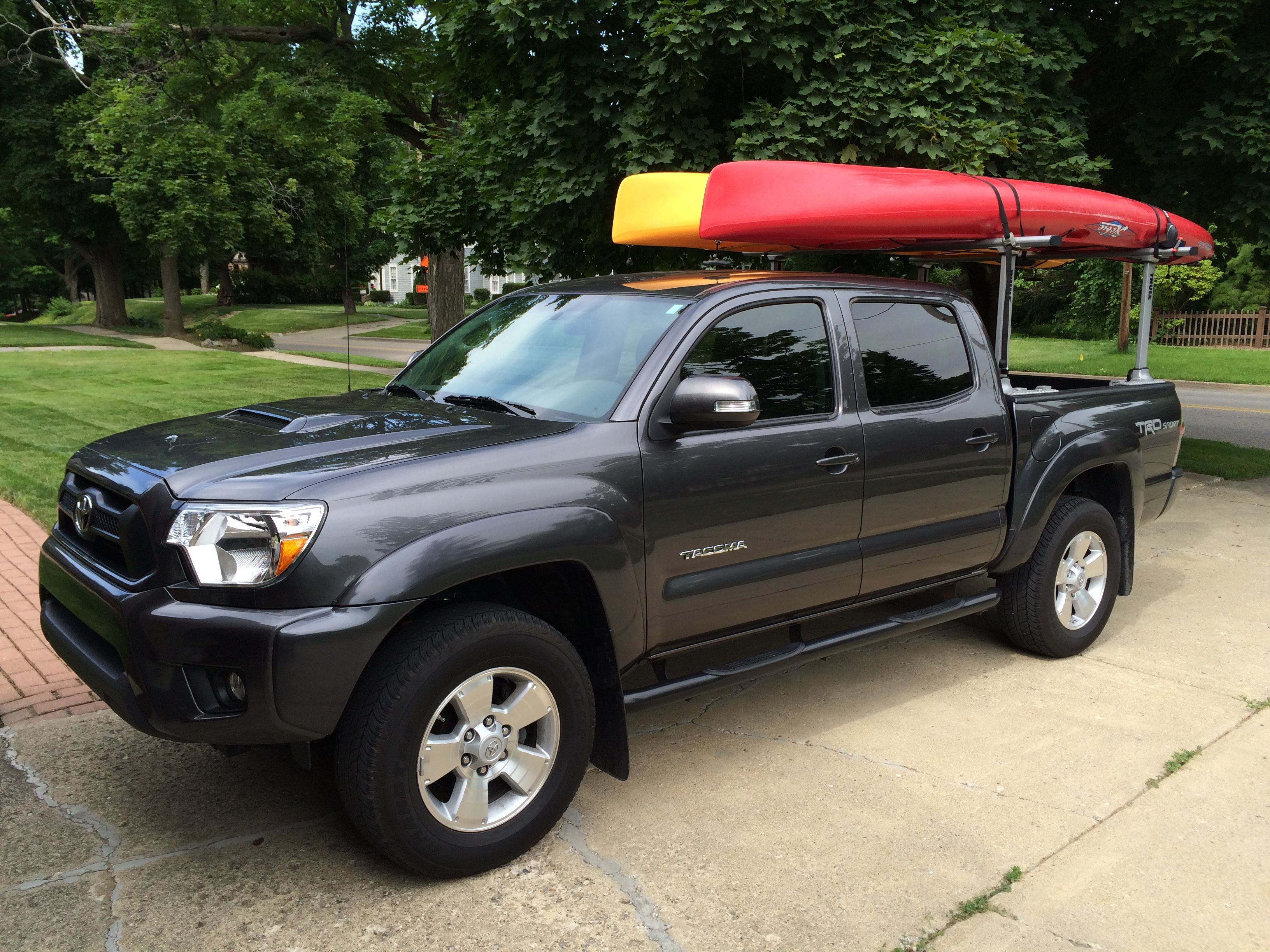 canoe racks as full for also conjunction amazon size well plus kayak a homemade truck with pickup in trucks of rack
