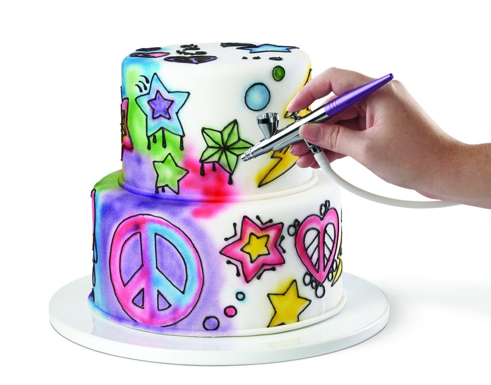 Wilton® Airbrush Decorating Set | Cakes | Airbrush cake