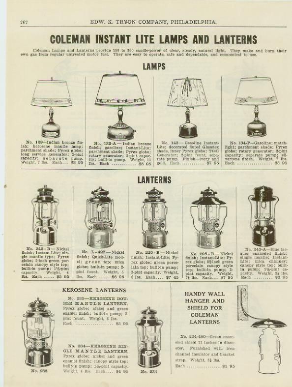 best loved faccf ee208 Catalog Page Ad Coleman Camp Lanterns Camping Marine Boat ...