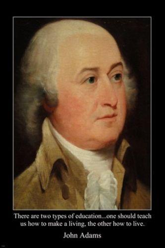 John Adams Quotes Portrait John Adams 2Nd President Usa Founding Father Poster 24X36