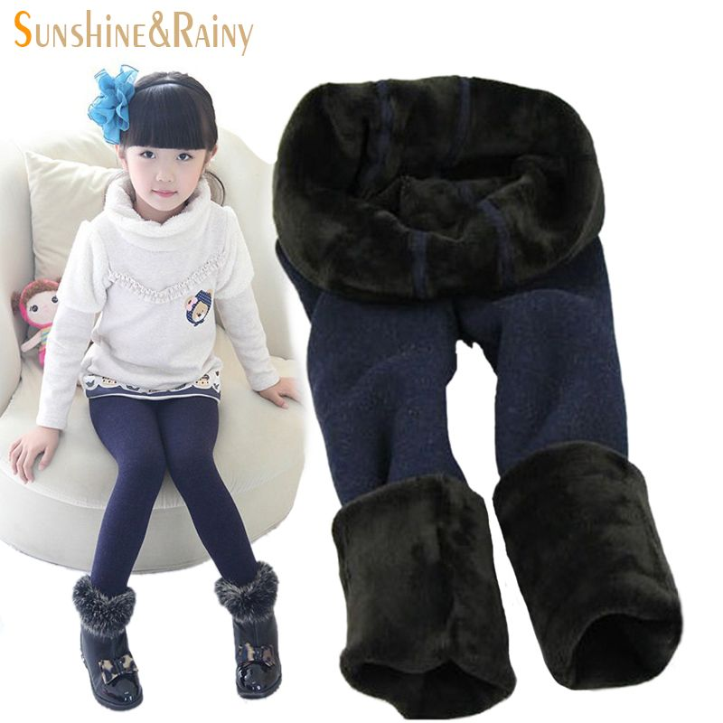 8c65e4d9be08 Pants With Fleece Children Winter Pants Girl Kids Girls Leggings ...