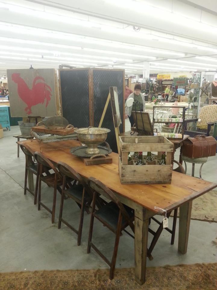 Wonderful Old Farm Table | Ms. Wendy'S At Scott Antique Market
