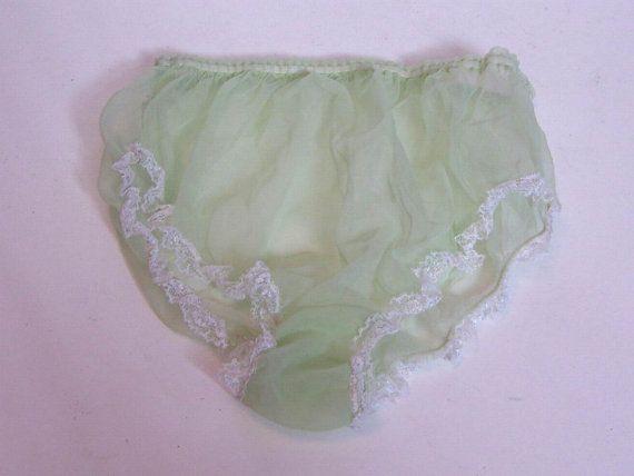 4b9d22ca1 Sheer Nylon Vintage Panties Original 1960 s Burlesque Sheer Mint ...