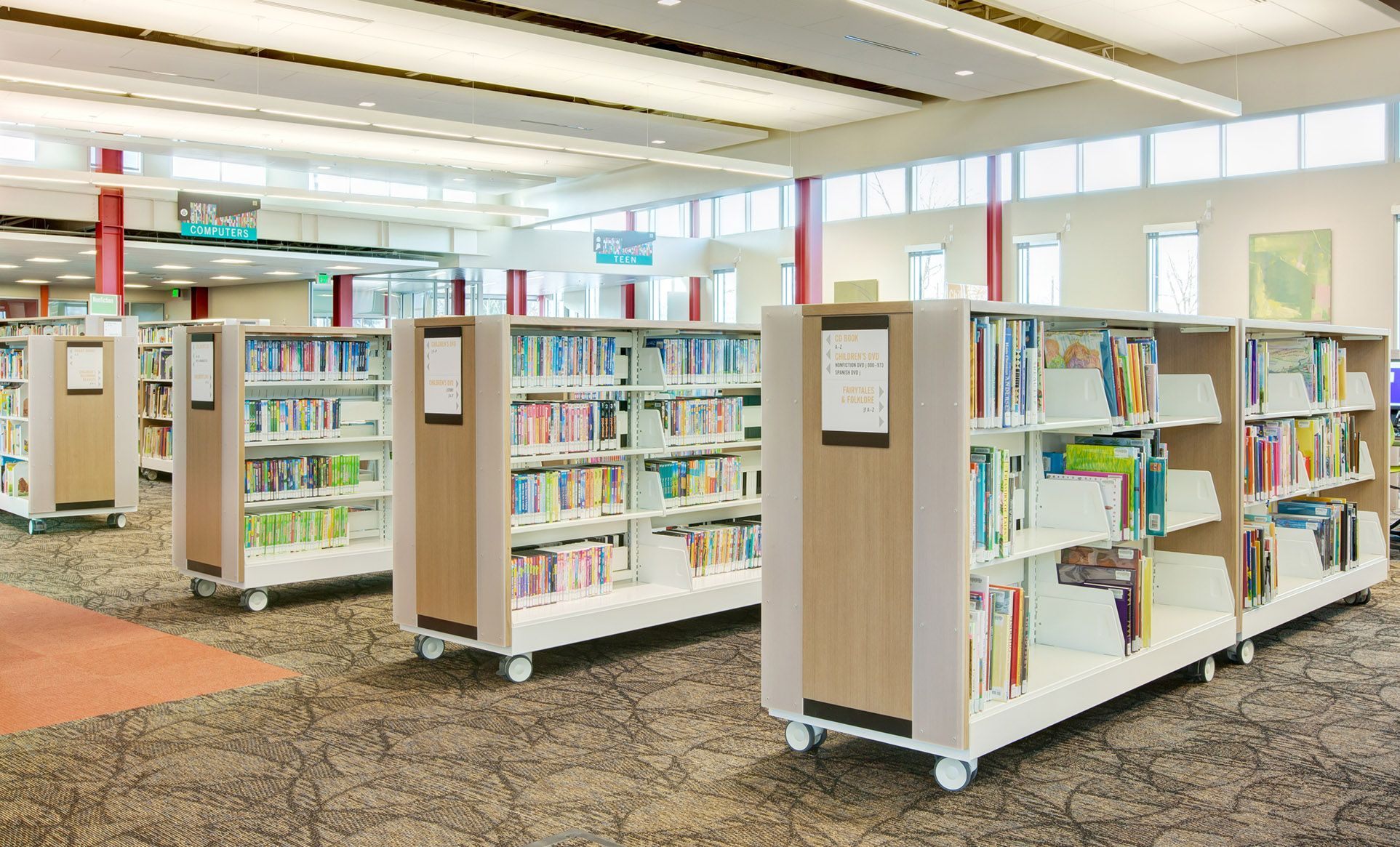 library carts for flexible storage and display | library