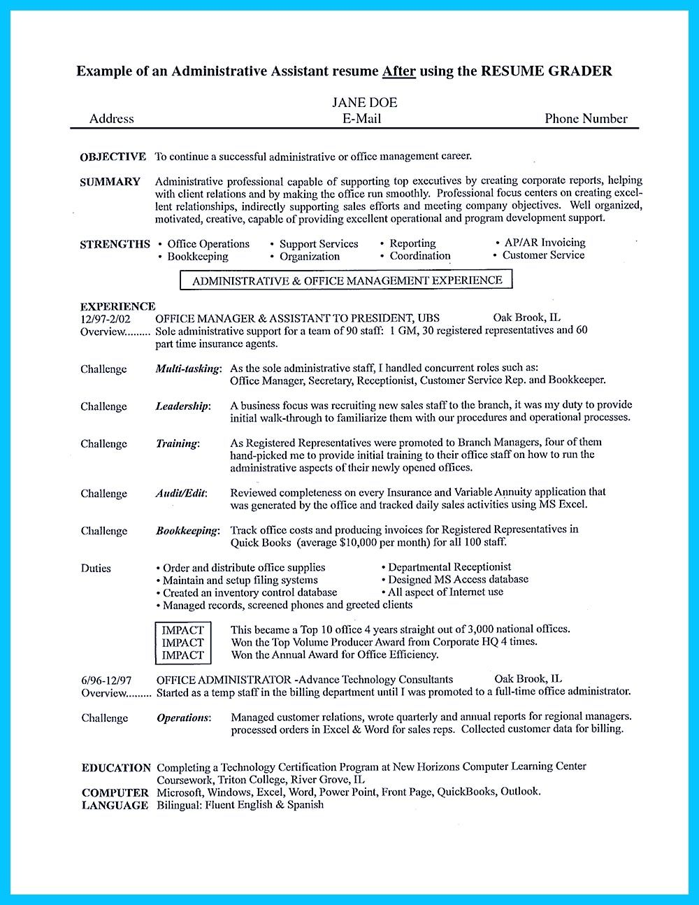 Administrative Assistant Resume Objective Examples In Writing Entry Level Administrative Assistant Resume You Need