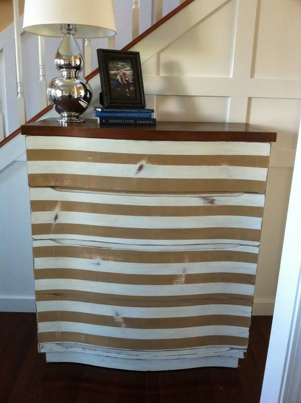 Impatiently Praying for Patience: Striped Dresser, new chair, and side table