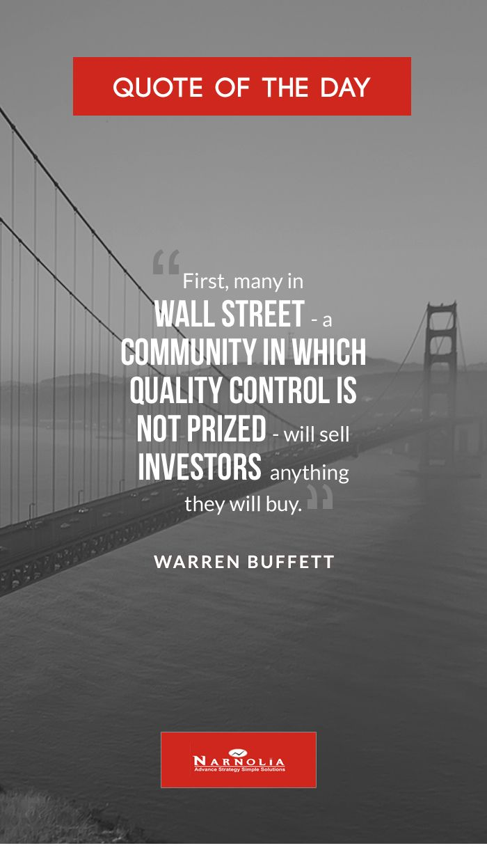 Quote Of The First Many In Wall Street A Community In Which