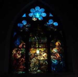 Adoration of the Shepherds, Tiffany window in the Emmanuel Parish of the Episcopal Church, Cumberland MD.
